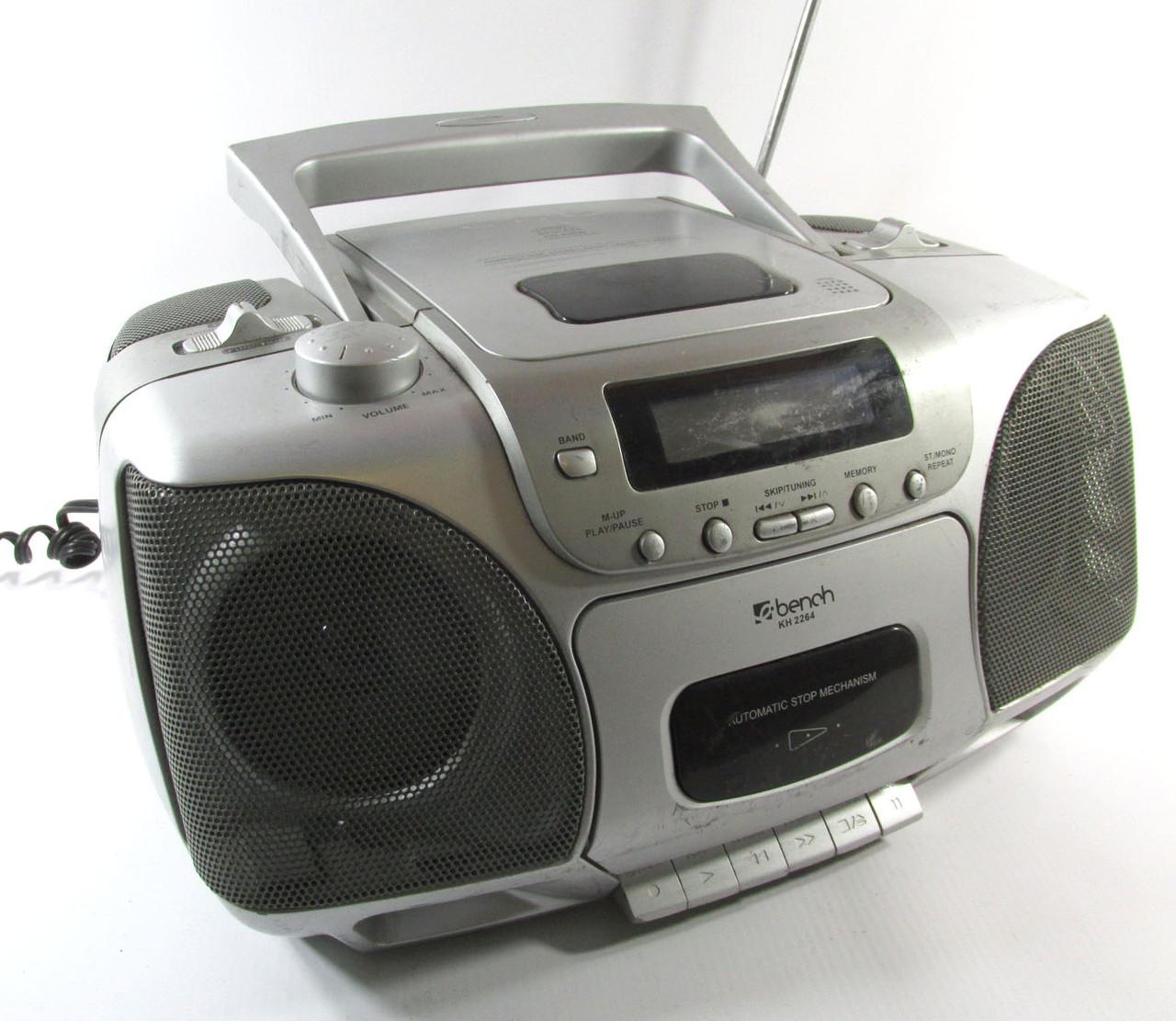 Магнитола Bench KH 2264, CD+касеты+радио (Видео обзор!)