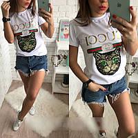 Модная футболка в стиле Gucci