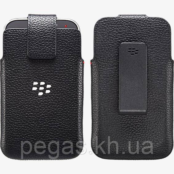 Чехол BlackBerry Classic Q20 кармашек кожаный