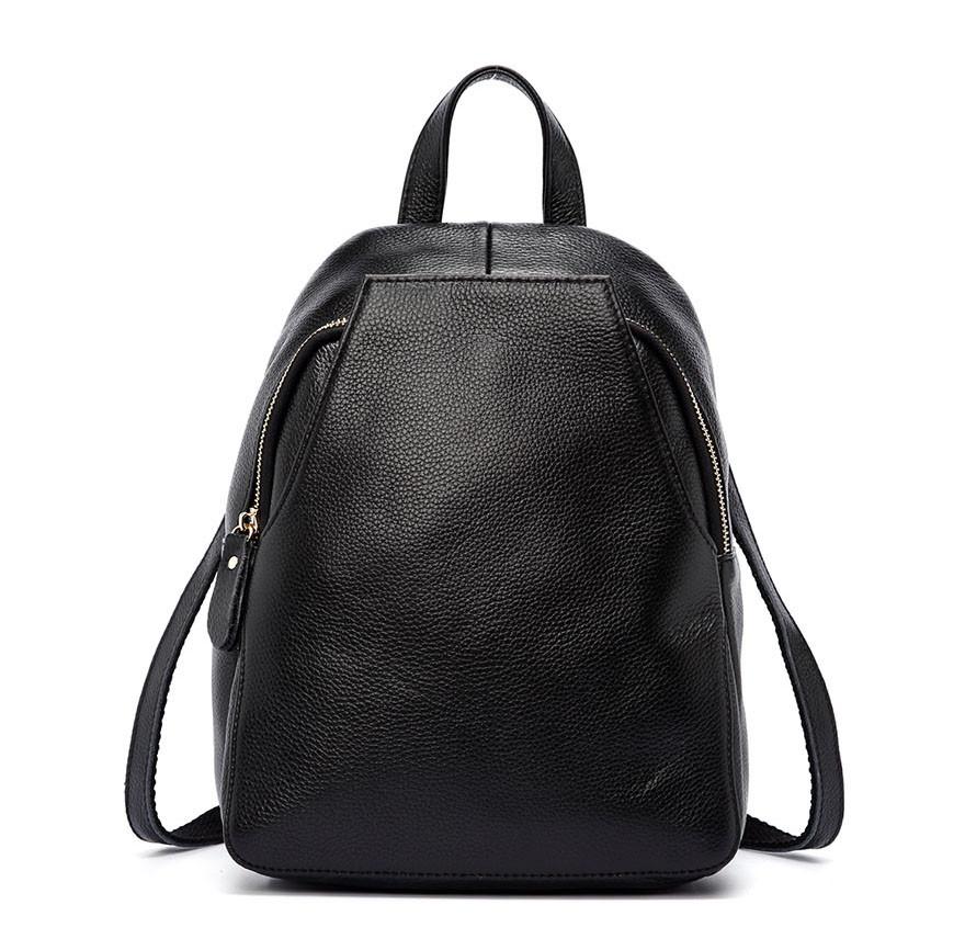 c40ff8f70b88 Рюкзак сумка (трансформер) женский городской кожаный (черный) -  Интернет-магазин «