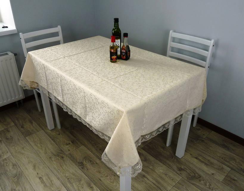 """Скатерть для стола """"KDK"""" 160х220 бежевый, vesna"""