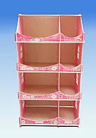 Кукольный домик-шкаф с росписью (мраморный), фото 1