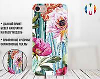 Силиконовый чехол для Apple Iphone 7 (Кактусы), фото 1
