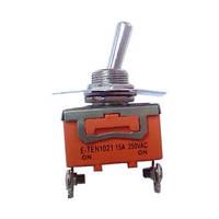 Тумблер on-off-on оранжевый узкий 3 pin болт 15A 250V tupe 122