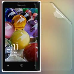 Защитная пленка Microsoft Lumia 435 глянцевая (Люмия 435)