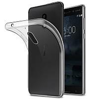 Прозрачный Чехол Nokia 6 (ультратонкий силиконовый) (Нокиа 6)