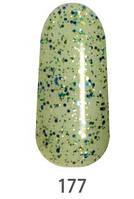 Гель-лак My Nail 9 мл №177 (зелёные и синие блёстки)