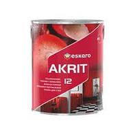 Краска для стен и потолков Eskaro Akrit 12 (полуматовая) 2.85л