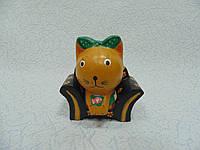 Статуєтка кошка в кресле деревянная размер 10*11*5 см, фото 1