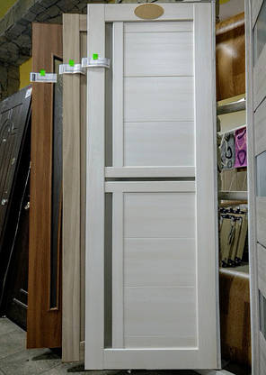 Двері міжкімнатні ламіновані Трініті Новий Стиль білі, фото 2