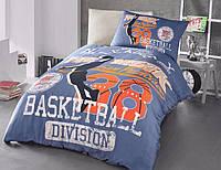 Комплект постельного белья полуторный Basket ранфорс подростковый