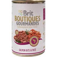 Brit (Брит) Boutiques Gourmandes Кусочки лосося в паштете для собак,400 гр