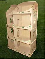 Кукольный домик-шкаф с росписью, фото 1
