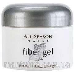 Гель All Season Fiber Gel Whiter White для френча насыщенный белый, 28 гр