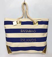 """Сумка летняя,пляжная, на канатных ручках """"Bahamas island"""""""