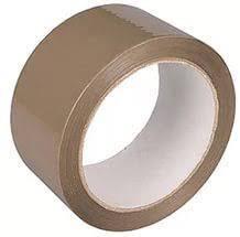 Скотч Коричневый, липкая лента коричневая ширина 24 мм 40 мкм