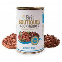 Brit (Брит) Boutiques Gourmandes Кусочки утки в паштете для собак,400 гр