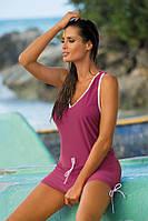 Туника-платье для пляжа Elsa 313 от TM Marko (Польша) Цвет сливовый