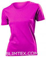 Футболка женская цветная для сублимации, термоперенос (флекс-пленка), размер XXL, цвет розовый