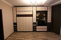 Подъемная кровать вертикальная с полками и пеналами , фото 1