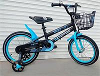 Спортивный велосипед topRider-01 20 дюймов  с корзиной цвет синий