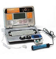 Детский ноутбук MD 8850 E/R с диском и микрофоном 2 языка