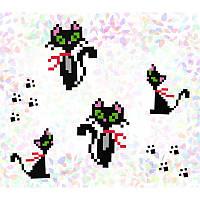 "Водорастворимый флизелин с рисунком ""Confetti"" (K104 Кошки)"