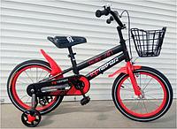 Спортивный велосипед topRider-01 20 дюймов  с корзиной цвет красный