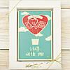 "Шоколадная открытка ""Love stay with me"" классическое сырье. Размер: 187х142х10мм, вес 170г"