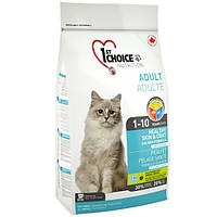 1st Choice Healthy Skin&Coat Adult 2,72кг ФЕСТ ЧОЙС сухой корм для котов, для здоровой кожи и блестящей шерсти