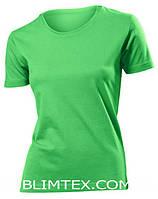 Футболка женская цветная для сублимации, термоперенос (флекс-пленка), размер 3XL, цвет зеленый