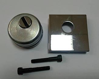 Броненакладка Quadra под цилиндр хром ,60*60