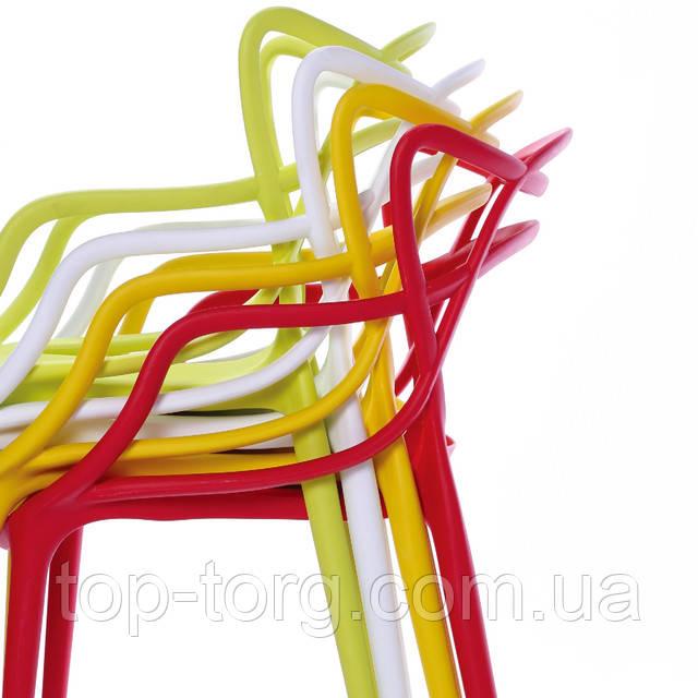 Пластиковые Стулья Мастерс складываются один в один, штабелями. Купить стул Masters в разных цветах дешевле