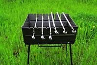 Раскладной мангал - чемодан на 6 шампуров УК-М6, фото 1
