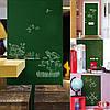 Грифельная наклейка с мелками 45х200см зеленая