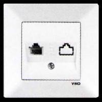 Розетка телефонная одинарная VIKO MERIDIAN белая (90970013)