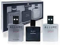 Подарочный набор мужской парфюмерии Chanel 3х25ml  (реплика)