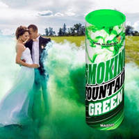 Зеленый цветной дым для фотосессии