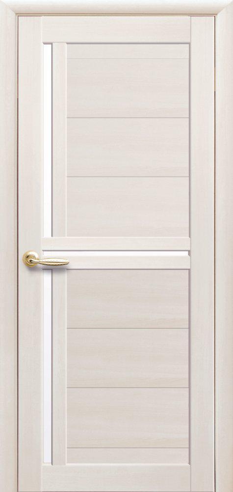 Двері міжкімнатні ламіновані Трініті Новий Стиль білі