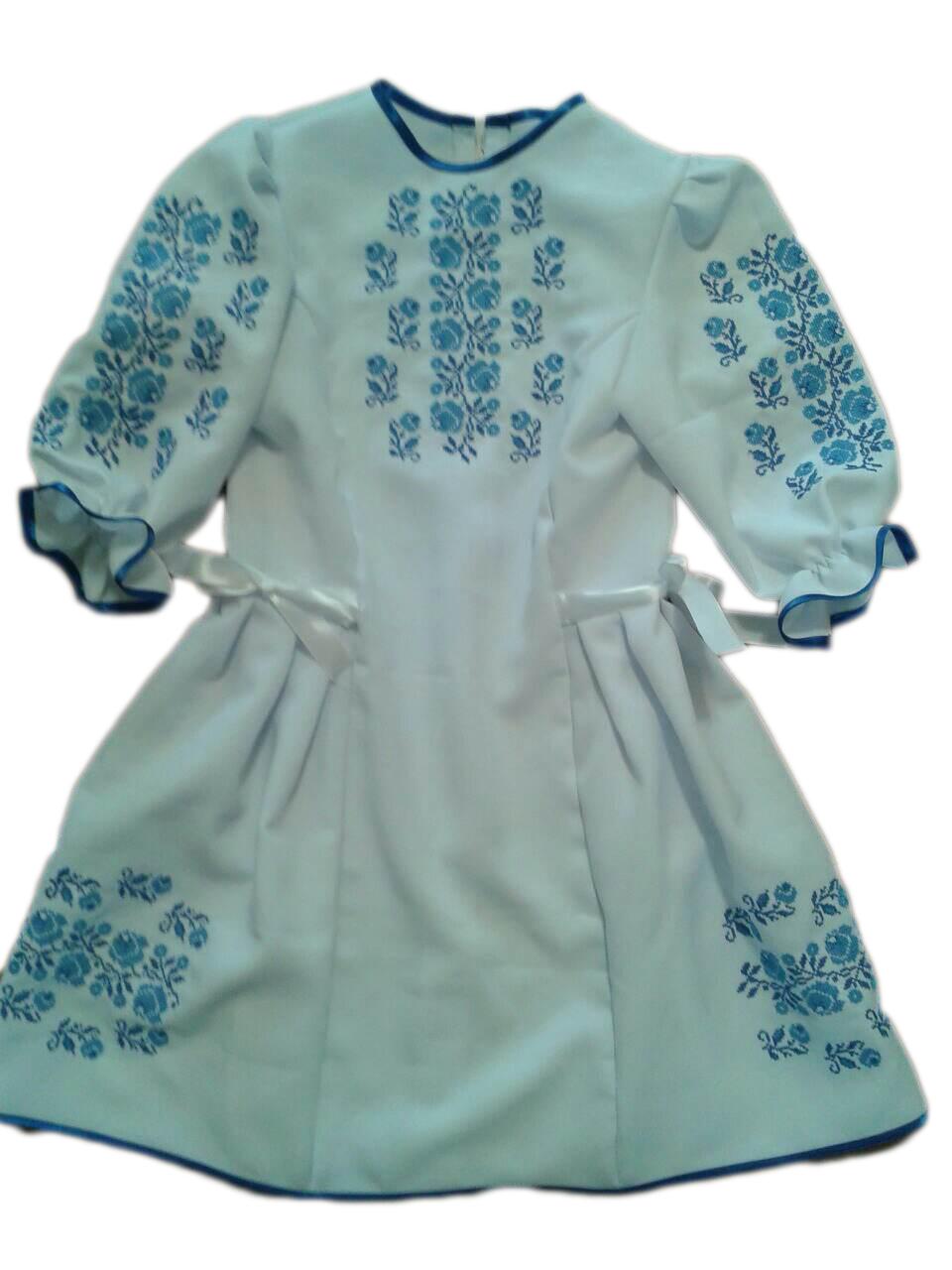 "Вишите плаття для дівчинки ""Нейтліс"" (Вышитое платье для девочки ""Нейтлис"") DU-00012"