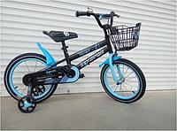 Спортивный подростковый велосипед topRider-01 с корзиной 18 дюймов  цвет синий