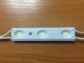 Светодиодный модуль M-5730SMD3CW-12 холодный белый IP67 Код.57578, фото 3