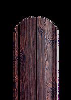 Штакет напівкруглий темне дерево 2-х сторонній, фото 1