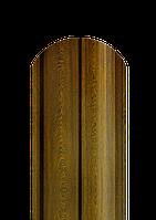 Штакет полукруглый 0,4 мм золотой дуб