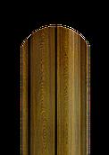 Штакет полукруглый 0,4 мм золотой дуб 2-х сторонний