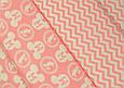 Сатин (бавовняна тканина) середній рожевий зигзаг (компаньйон міккі) (Шлюб точки через кожні 60см), фото 2