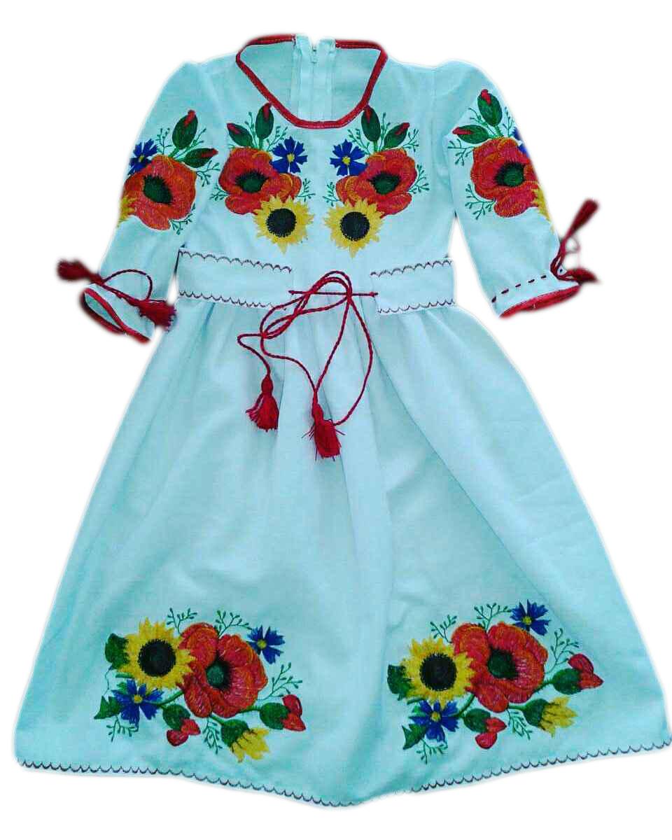 """Вишите плаття для дівчинки """"Нікен"""" (Вышитое платье для девочки """"Никен"""") DU-00014"""