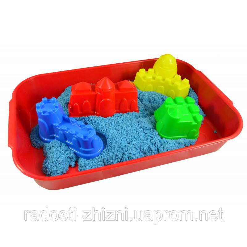 """Кинетический песок WABA FUN  в наборе """"Цветной синий"""""""