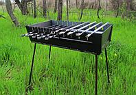 Раскладной мангал - чемодан на 10 шампуров УК-М10