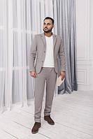 Мужской костюм Иларион светло-серый